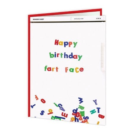 Cheeky Titles - Happy Birthday Fart Face