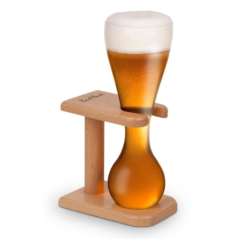 Quarter Yard Beer Glass and Stand