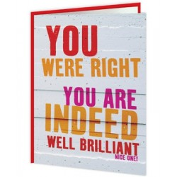 Word Up! - You Are Indeed...
