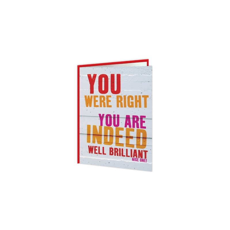Word Up! - You Are Indeed Well Brilliant