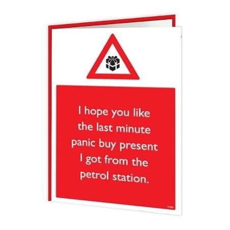 Christmas Warning - Panic Buy Present