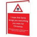 Christmas Warning - I Hope That Santa Brings You Everything
