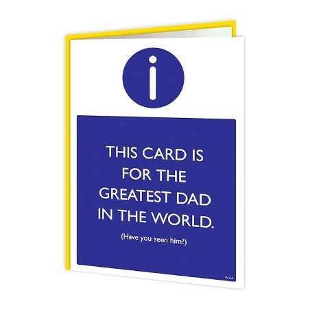 Warning Card - For the Greatest Dad in the World
