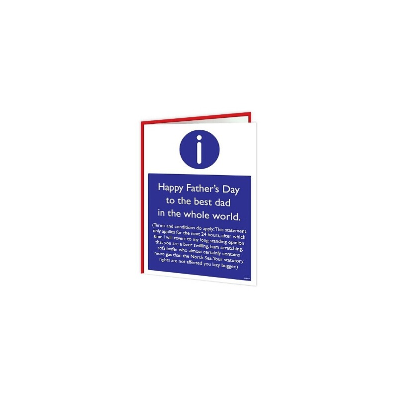 Warning Cards - Happy fathers Day (T&C's Apply)
