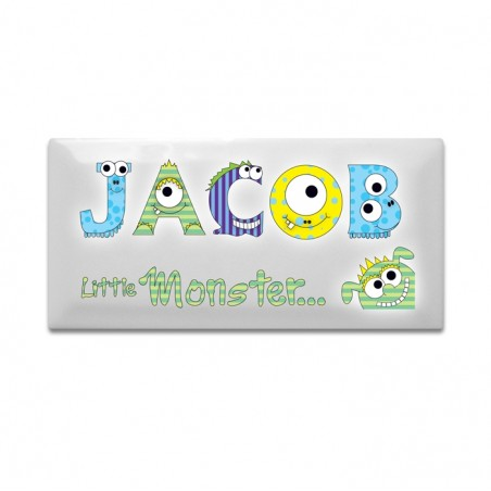 Personalised - Little Monster Door Plaque