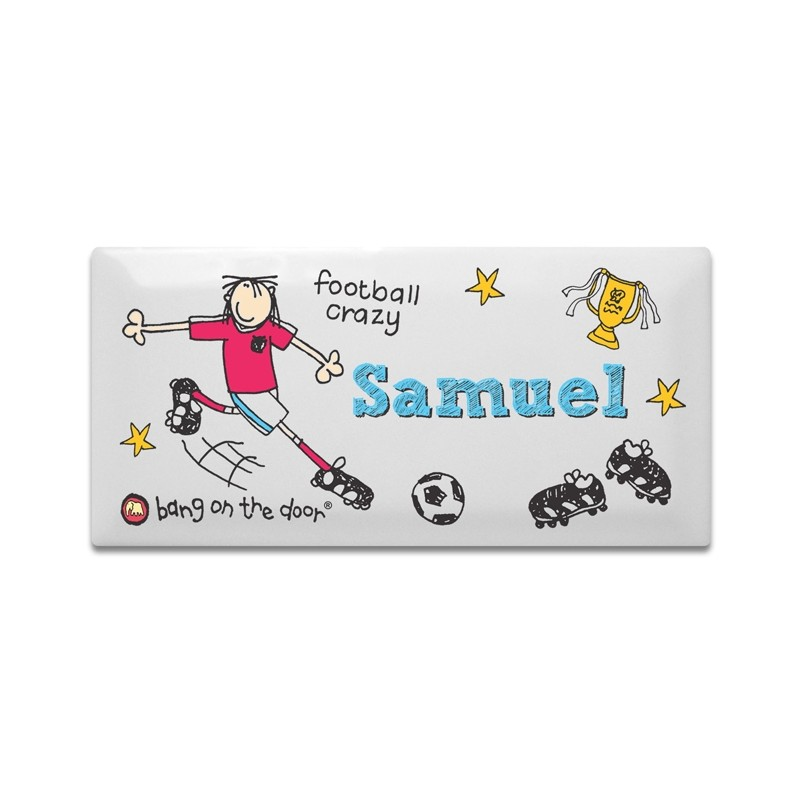 Personalised - Bang On The Door Football Crazy Door Tile