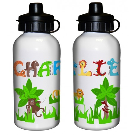 Personalised - Animal Alphabet Drinks Bottle - Boys