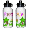 Personalised - Animal Alphabet Drinks Bottle - Girls