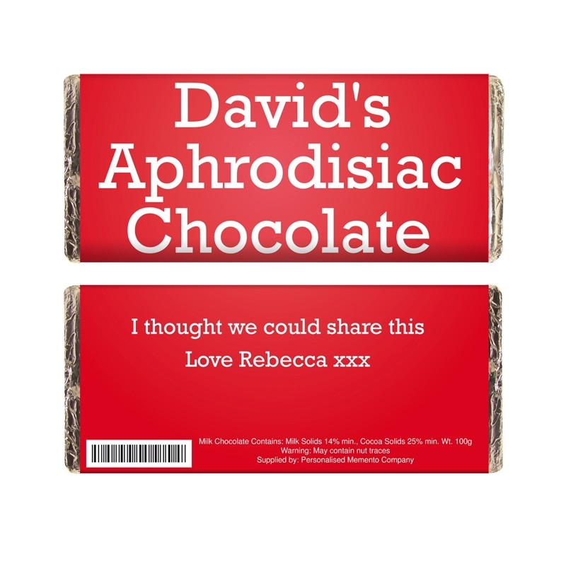 Personalised - Aphrodisiac Chocolate Bar