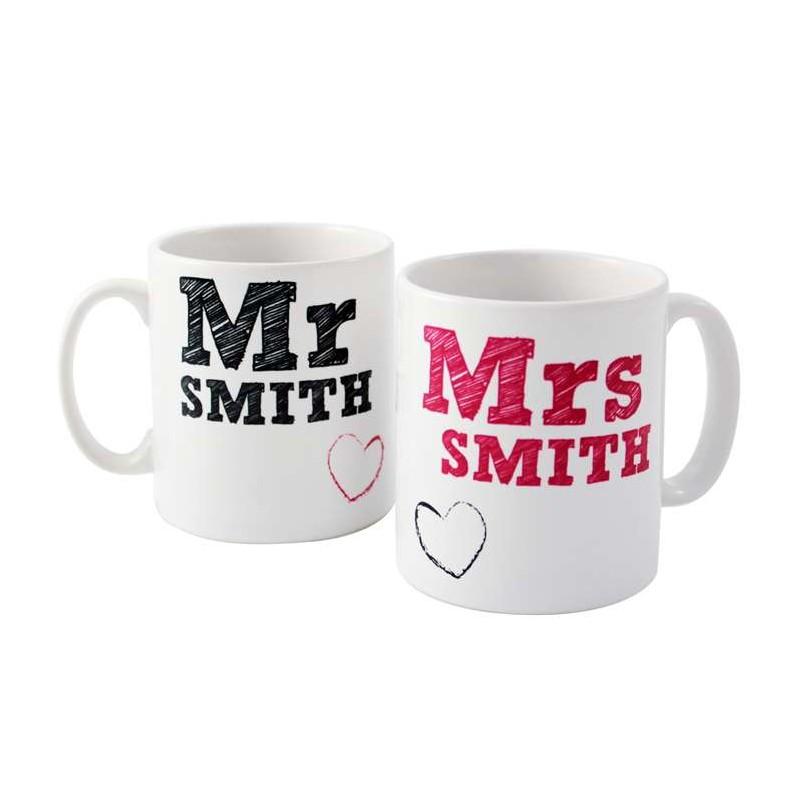 Personalised - Mr & Mrs Mug Set