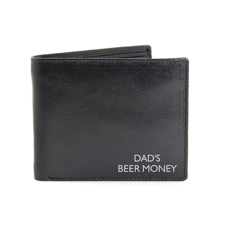 Personalised - Black Message Wallet