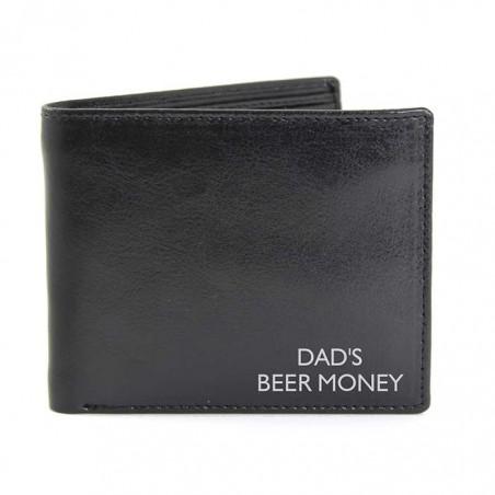 Personalised - Black Message Wallet
