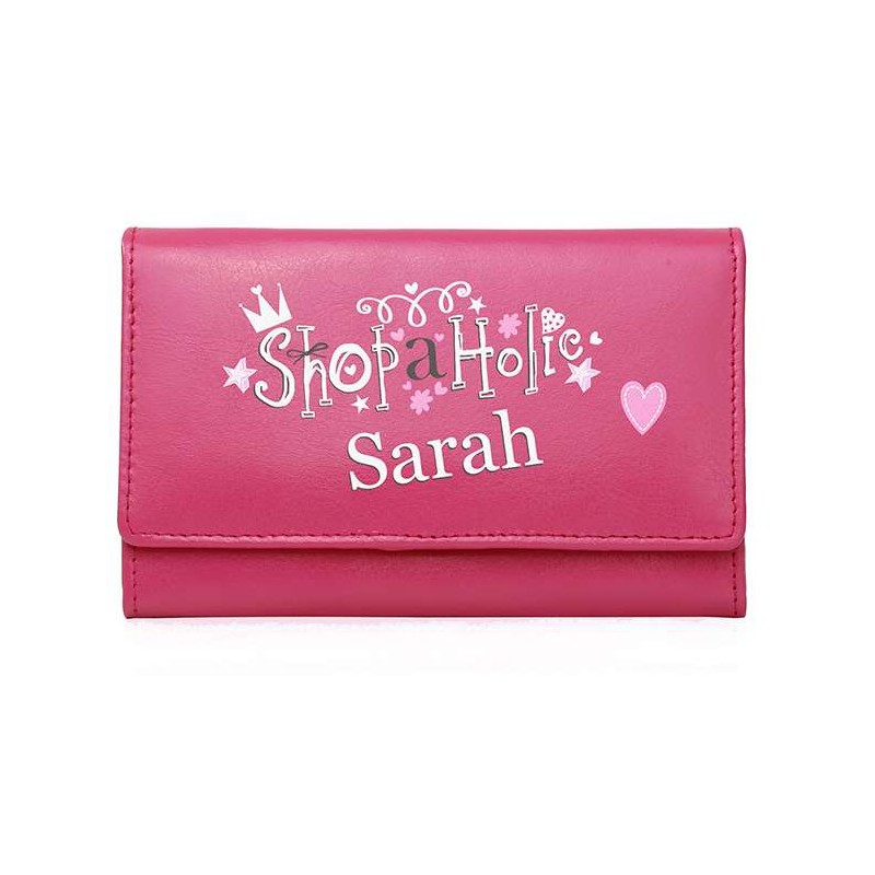 Personalised - Pink Shopaholic Purse