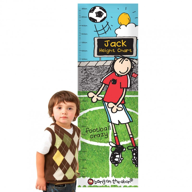 Personalised - Bang On The Door Football Crazy Height Chart