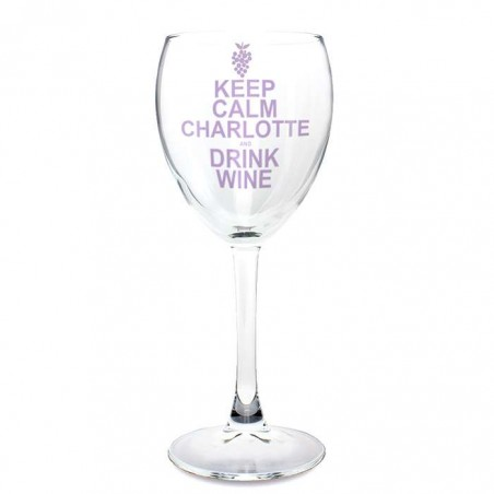 Personalised - Keep Calm Drink Wine Glass