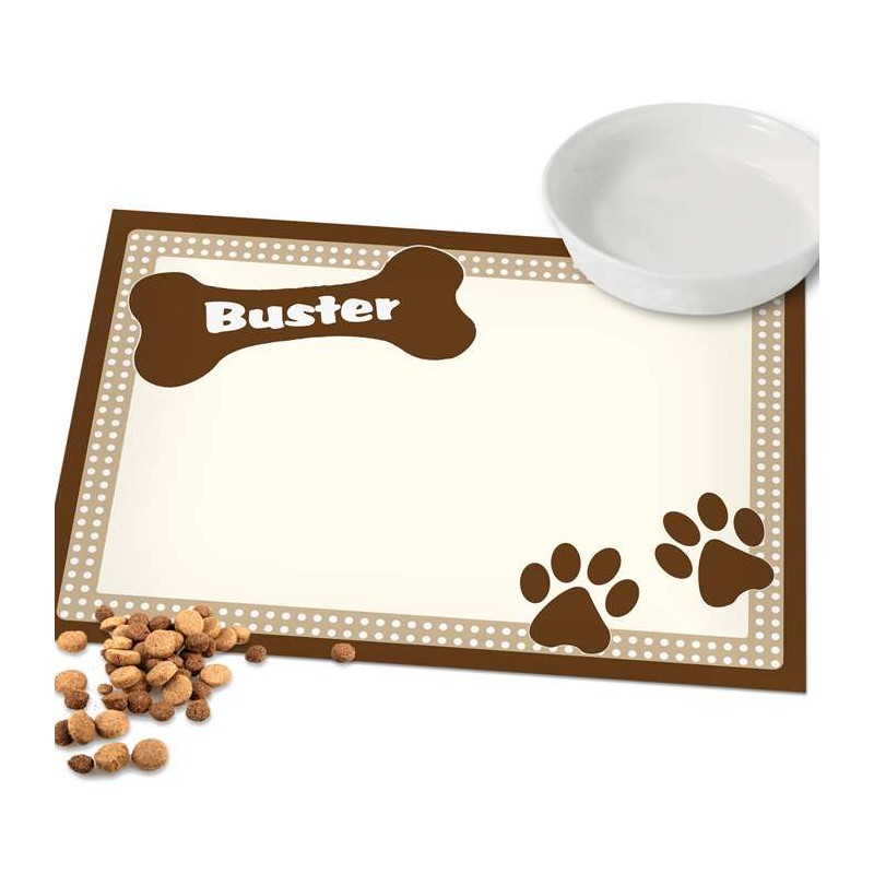 Personalised - Brown Dotty Dog Placemat