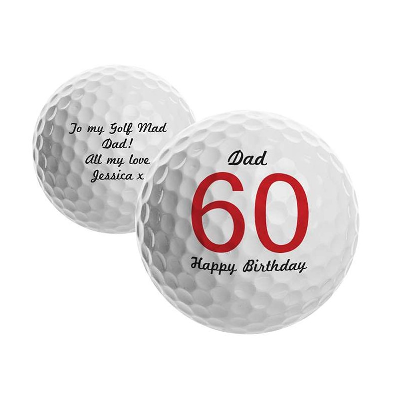 Personalised - Big Numbers Golf Ball