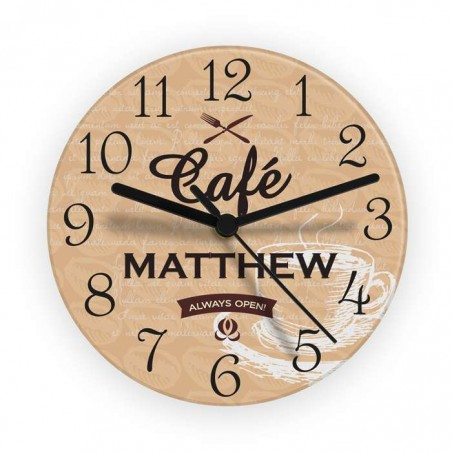 Personalised - Bistro Glass Clock
