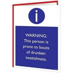 Warning Cards - Prone to...