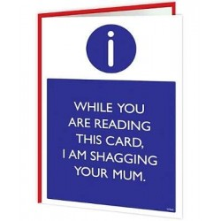 Warning Cards - Shagging...