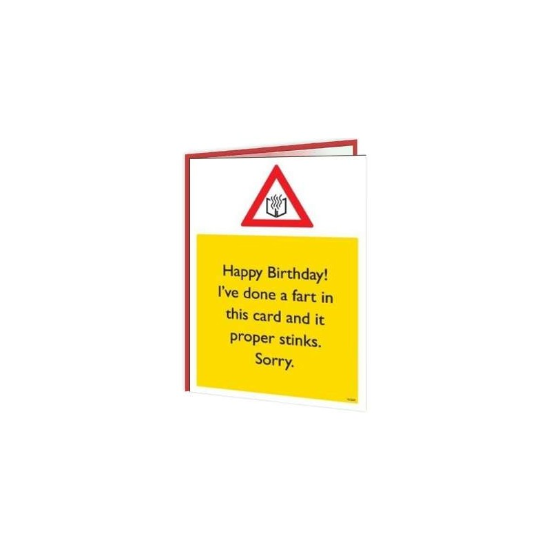 Warning Cards - I've Done A Fart In Your Card