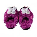 Kids Fuzzy Friends Slippers - Purple Butterfly