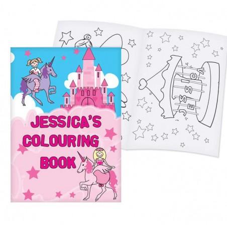 Personalised - Princess Colouring Book