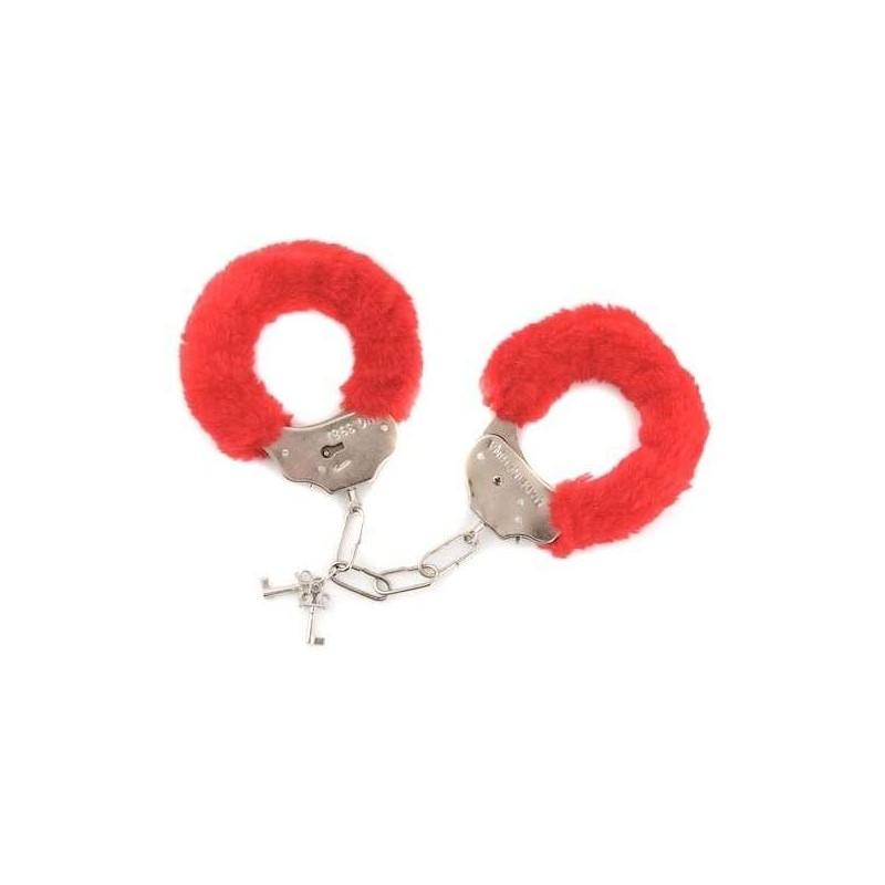 Red/Black Fur Love 'Cuffs