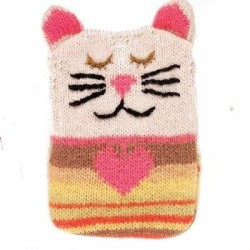 Knitted Hand Warmers - Cat