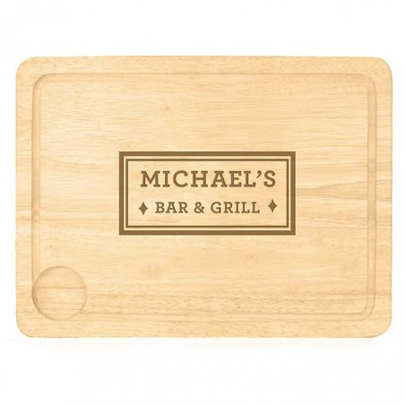 Personalised - Bar & Grill Carving Board