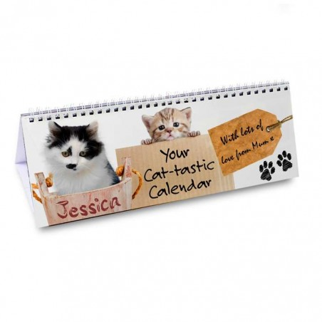 Personalised - Cat-tastic Desk Calendar