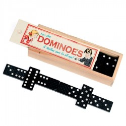 Wooden Box Of Dominoes