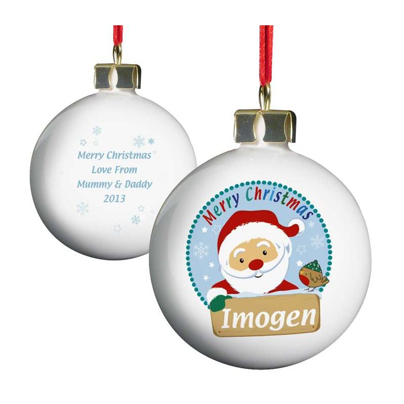 Personalised - Santa Bauble