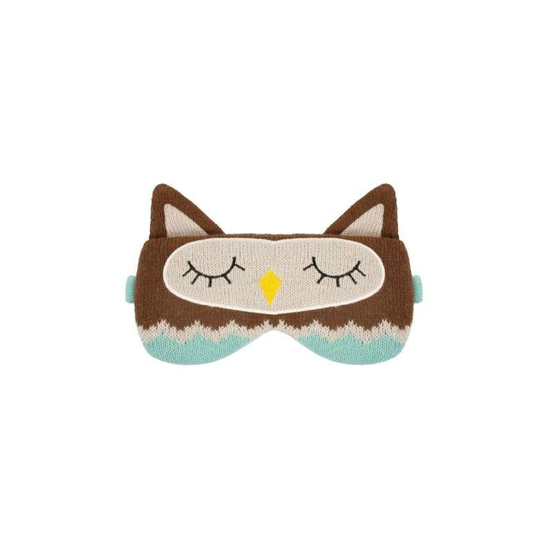 Knitted Owl Eye Mask