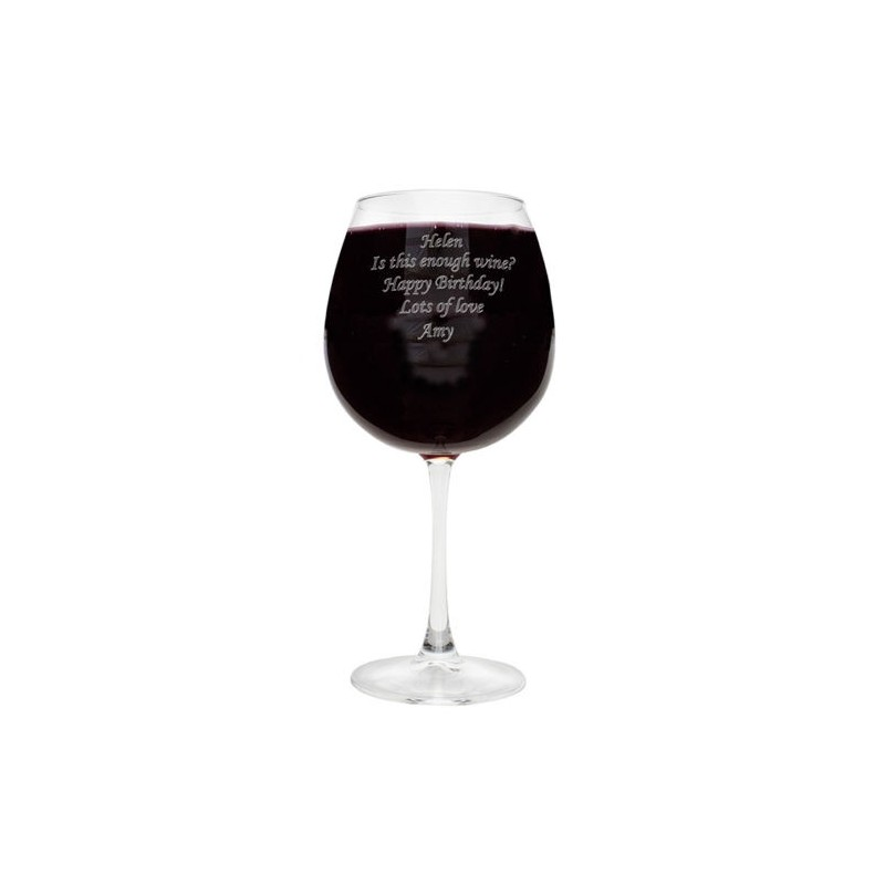 Personalised - Bottle of Wine Glass