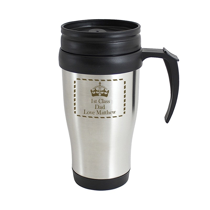 Personalised - Crown Travel Mug