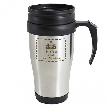 Personalised - Crown Travel Mug