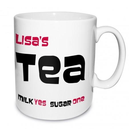 Personalised - Tea Decisions Mug