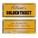 Personalised - Golden Ticket Chocolate Bar