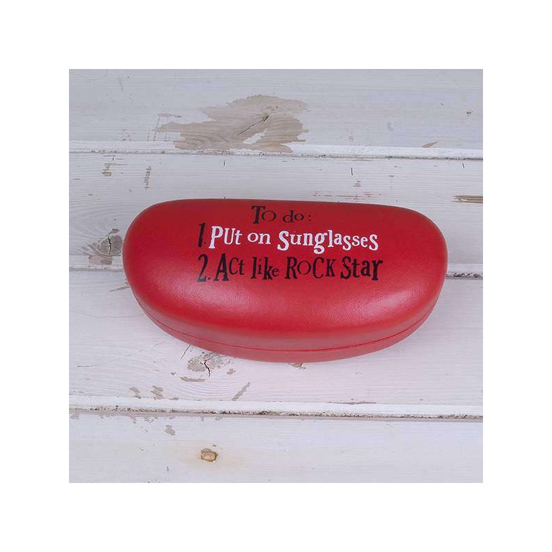 Sunglasses Case - Act Like A Rock Star