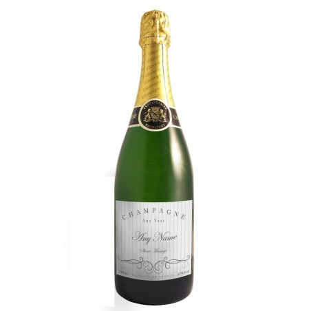 Personalised - Elegant Swirl Champagne Bottle with Gift Box