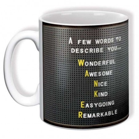 A Few Words To Describe You (Wanker) - Mug