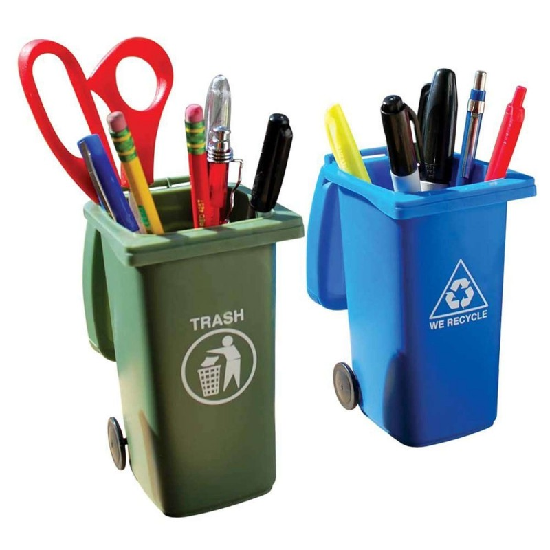 Wheelie Bin Desk Tidy Set