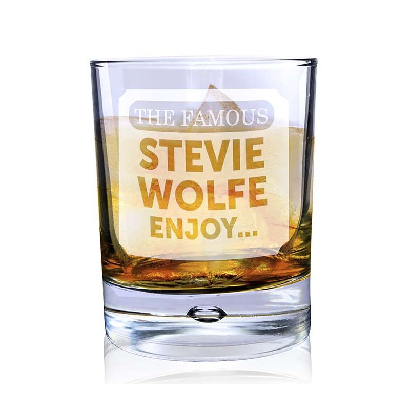 Personalised - The Famous... Bubble Glass