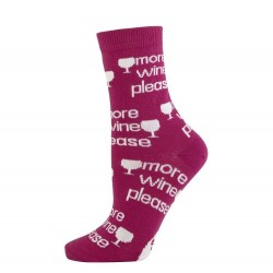 Novelty Socks - More Wine...