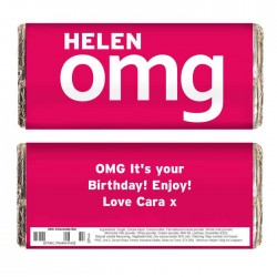 Personalised - OMG Slogan Chocolate Bar