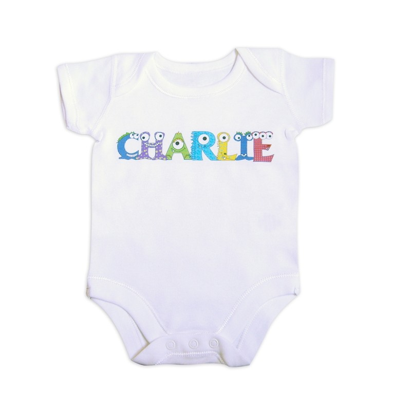 Personalised - Monster Alphabet Baby Vest
