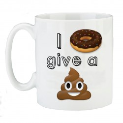 I Doughnut Give a Shit - Emoji Mug