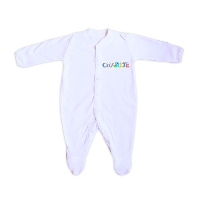 Personalised - Monster Alphabet Baby Grow