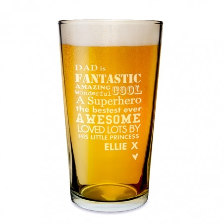 Personalised - He Is... Pint Glass